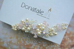 Champagne Blush Bridal Headpiece Bridal by DonataleFlowers4You
