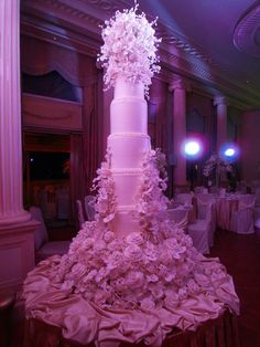 A cake by Sylvia Weinstock would be perfect. Maybe not this big and this many flowers, but anything from her is perfect.
