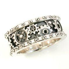 Steampunk Men's Gear Ring |derpfudge