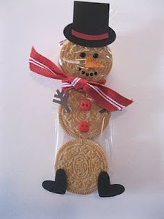 Snowmen treat (can use different cookies)