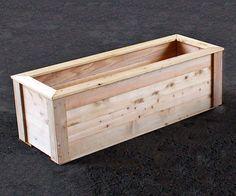 "Natural Cedar Planter Box - 2' x 6' x 24"""