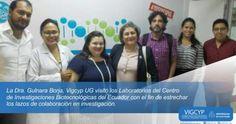 Visita al Centro de Investigaciones Biotecnológicas del Ecuador – CIBE