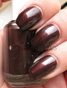 "Essie's ""So Cocoa"" gel polish is similar to Essie's "" Decadent Diva"" nail polish. BEAUTIFUL! Rich, dark cocoa brown with mahogany undertones! LOVE! I keep staring at my nails. Going to wear this color ALOT this Fall!"