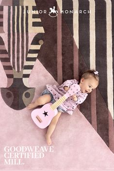 Junior Monarch rugs are produced in Goodweave Certified Mill. This ensures that no children are involved and exploited, in the making of our rugs. Bonbon Zebra by Josh Brill. Hand Knotted and hand tufted children's rugs. New Zealand and Blend.