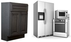 Kensington Mist Kitchen Cabinets - smokey gray color. Great for hiding grime, wear and tear in rentals