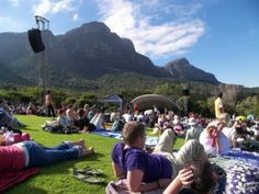 Kirstenbosch [Botanical Gardens] Summer Concerts - done Summer Concerts, Table Mountain, Beach Tops, Cape Town, Botanical Gardens, National Geographic, Trip Advisor, The Good Place, Paisley