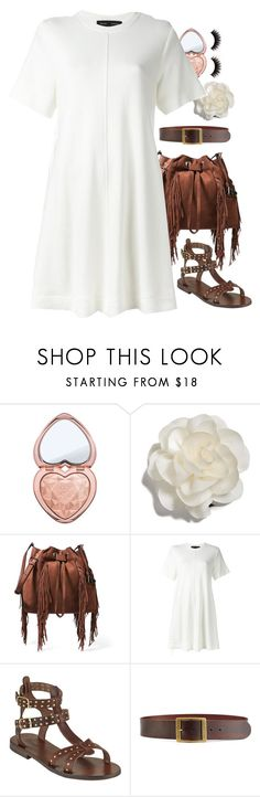 """""""Untitled #41"""" by apples-ed ❤ liked on Polyvore featuring Too Faced Cosmetics, Cara, Diane Von Furstenberg, Proenza Schouler, Somerset by Alice Temperley and Frame"""