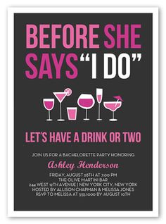 Before The I Do 5x7 Card | Bachelorette Party Invitations | Shutterfly