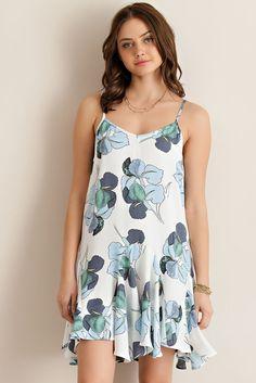 Floral Sun Dress - Blue