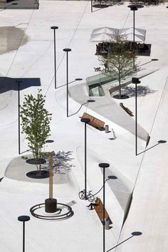 palo di zurigo   Viabizzuno progettiamo la luce Landscape Architecture, Landscape Design, External Lighting, L And Light, Street Furniture, Landscape Lighting, Architectural Digest, Ceiling Lamp, Lighting Design