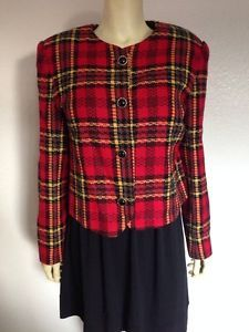 Sale Kate McNaughton Jacket Red Plaid 10 | eBay