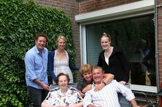 Robert with his children, Nathan, Emma and Caity. His great Aunt Jannie and Cousin Vera in Holland 2008