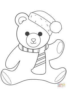 Teddy Bear Checkup Coloring Page