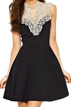 little black dress with lace detailing