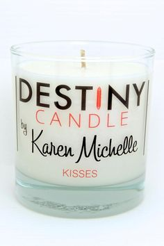 Candles melt down to reveal a special piece of jewelry valued from $10 to $10,000! The candle never burns hot so you can use directly as body massage oil. Whether you want to ignite a night of passion or relax after a stressful day, the warm oil feeds your skin, leaving it irresistibly soft with a delicate glow.The KISSES candle features the delicious scent of chocolate with mint.   Chocolate Mint Massage Candle by Destiny Candle by Karen Michelle. Home & Gifts - Home Decor - Candles…