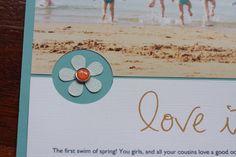 Simple Aussie Girls: 'love it' (layout & sketch)