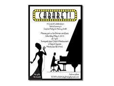 Piano Bar Invitations