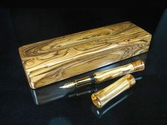 Holy land Special Olive Wood Set fountain pen and Presentation case.closed ends design pen.