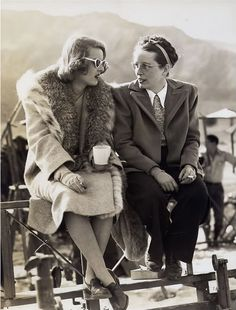 Bette Davis with her sister Bobby