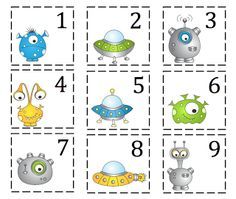 Preschool Printables: Number cards