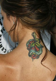 Rotten apple and Snake Neck Tattoo