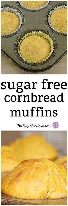Check out this yummy recipe for tasty cornbread bread muffins that are also sugar free. This is the perfect breakfast or snack recipe that can also be used to make a great lunch or dinner meal too! Diabetic Friendly Desserts, Diabetic Recipes, Diabetic Cornbread Recipe, Diabetic Foods, Diabetic Bread, Kidney Recipes, Healthy Recipes, Muffin Recipes, Snack Recipes