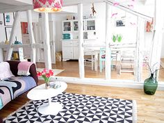 Binnenkijken in een vintage huis vol vrolijkheid / www.woonblog.be
