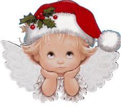 Sleepy Christmas Angel . GIF Silvita Blanco Angeles | Silvita Blanco Angelitos