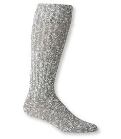 Gray Marled Women's Cotton Ragg Knee-High Boot Socks