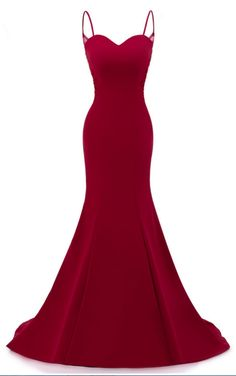 Dark Red Straps Long Formal Dresses, Red Mermaid Party Dresses, Red Formal Dresses · lass · Online Store Powered by Storenvy Red Formal Dresses, Elegant Dresses, Pretty Dresses, Beautiful Dresses, Red Evening Dresses, Dance Dresses, Ball Dresses, Mermaid Dresses, Dresses Dresses