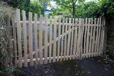 Just finished installing these double gates. Cleft Chestnut with Oak pegs and copper nails throughout.