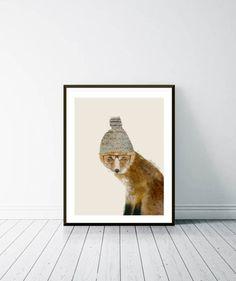 the fox. Watercolours, Fox, Wall Art, Illustration, Nature, Animals, Naturaleza, Animales, Animaux