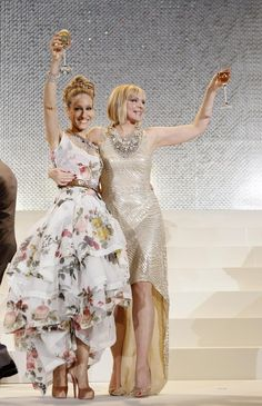 Sarah Jessica Parker and Kim Cattrall--really love SJP's gown.