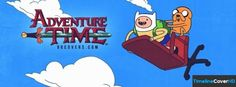 Adventure Time With Jake And Finn Flying Facebook Cover Timeline Banner For Fb84 Facebook Cover