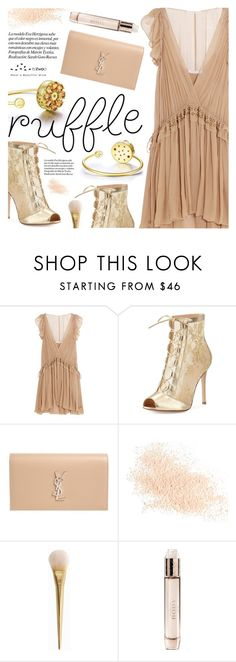 """All Ruffled Up"" by totwoo ❤ liked on Polyvore featuring Chloé, Gianvito Rossi, Yves Saint Laurent, Eve Lom and Burberry"