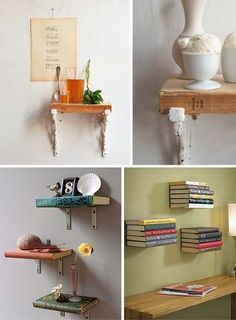 """Here are the """"literal"""" bookshelves I was talking about!  I don't know whether we could actually do this, but I have an idea and just need to get some command strips to try it out =]"""