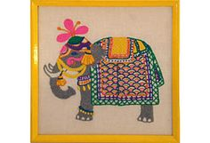 Hand-Stitched Elephant Embroidery