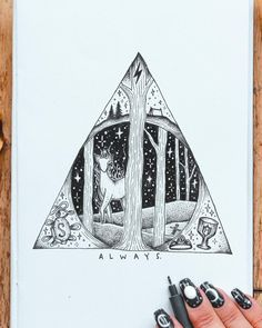 Harry Potter Harry Potter More from my site Feiern Sie den… Arte Do Harry Potter, Harry Potter Drawings, Harry Potter Tattoos, Harry Potter Memes, Harry Potter Sketch, Art Drawings Sketches, Easy Drawings, Drawing Art, Tattoo Drawings