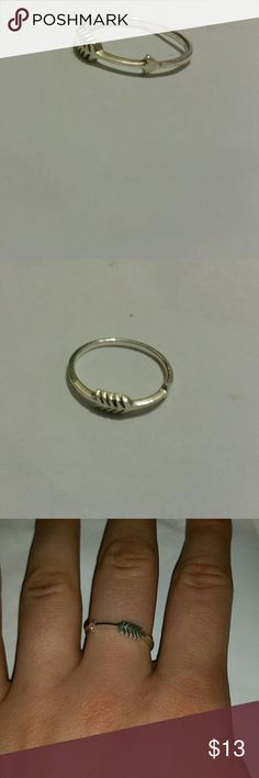 Sterling silver arrow ring This is your sterling silver arrow ring from sizes 5 to 9 marked 925. Jewelry Rings