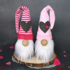 How to make Sock Gnomes for Valentine's Day {or any holiday!} - It's Always Autumn Valentines Day Decorations, Valentine Day Crafts, Holiday Crafts, Sock Crafts, Fabric Crafts, How To Make Socks, Gnome Tutorial, Valentine's Day Diy, Autumn