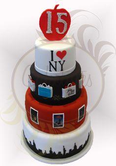I <3 New York cake - Caketutes Cake Designer: NY
