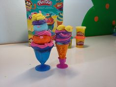Play Doh Ice-Creams! Play Doh Ice Cream, Make Ice Cream, Business For Kids, Videos, How To Make