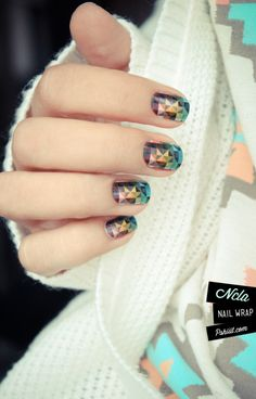 Gemstone Nail Wrap by NCLA. http://www.shopncla.com/collections/classics/products/gemstone   -  All of their stuff is awesome!