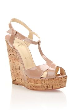Louboutin Marina Liege Wedges In Nude - Beyond the Rack