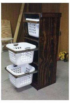 Laundry Basket Dresser, Laundry Basket Storage, Laundry Room Organization, Laundry Room Design, Storage Baskets, Organization Ideas, Laundry Rooms, Bin Storage, Laundry Decor