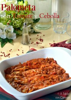 Palometa con Tomate y Cebolla
