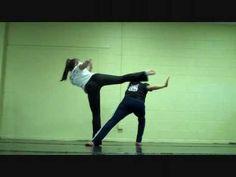 Basic Capoeira Movements: esquiva, role, bencao, meia lua de frente, martelo, queixada, armada, meia lua de compasso, macaco (hers is BEAUTIFUL), au role, meia lua solta, chibata presa, quebrada, chibata solta, chapa, piao de mao, vingativa, banda trancada, banda de frente, rasteira
