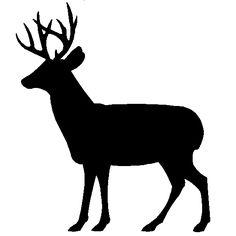 deer Silhouette | ... Art Silhouettes of Wildlife Animals | Bears | Deer | Elk | Squirrels