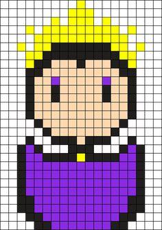 Evil Queen Perler Bead Pattern / Bead Sprite