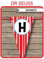 Dr Seuss Banner template
